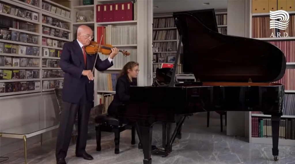 Maestro Salvatore Accardo and his daughter Irene